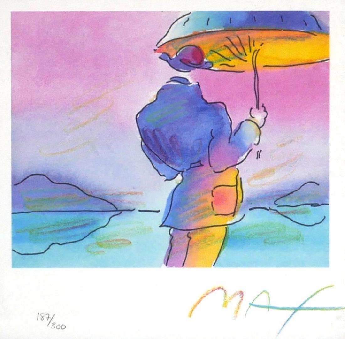 Peter Max Umbrella Man Pop Art Lithograph