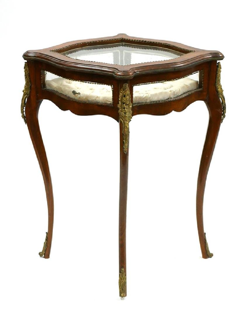 French Verne Martin Style Ormolu Vitrine Table