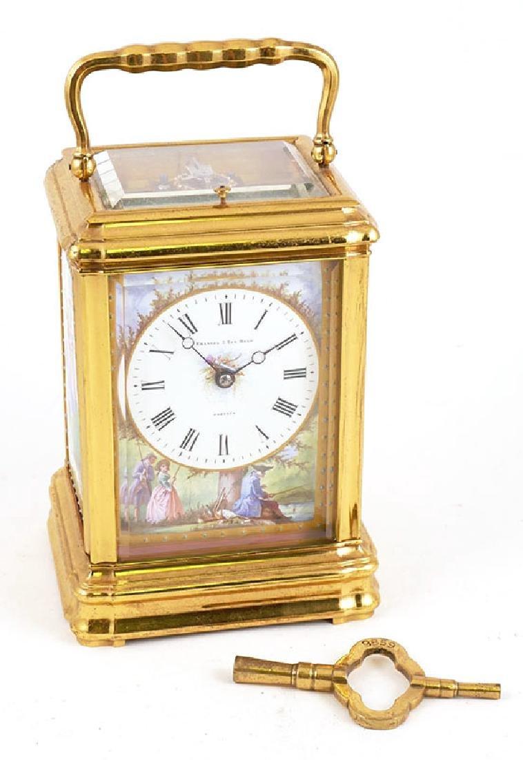 Emanuel Paris Enamel Painted Carriage Clock 1886