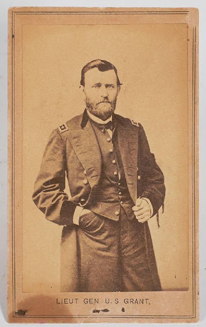 Civil War CDV of Ulysses S Grant w Inscription