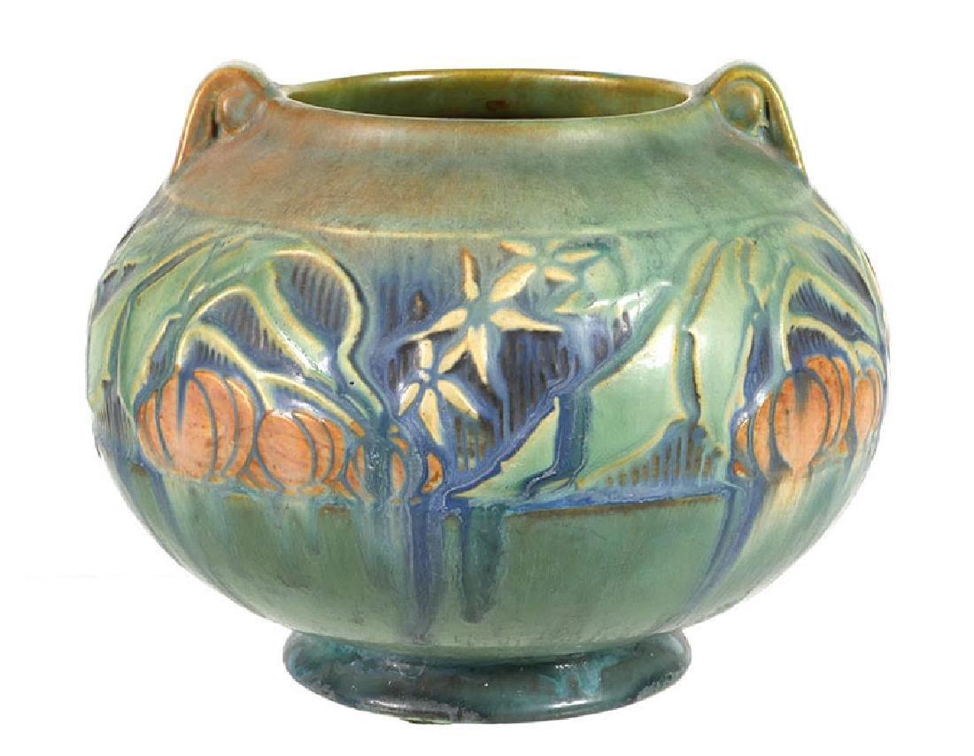 Roseville Baneda Handled Art Pottery Vase