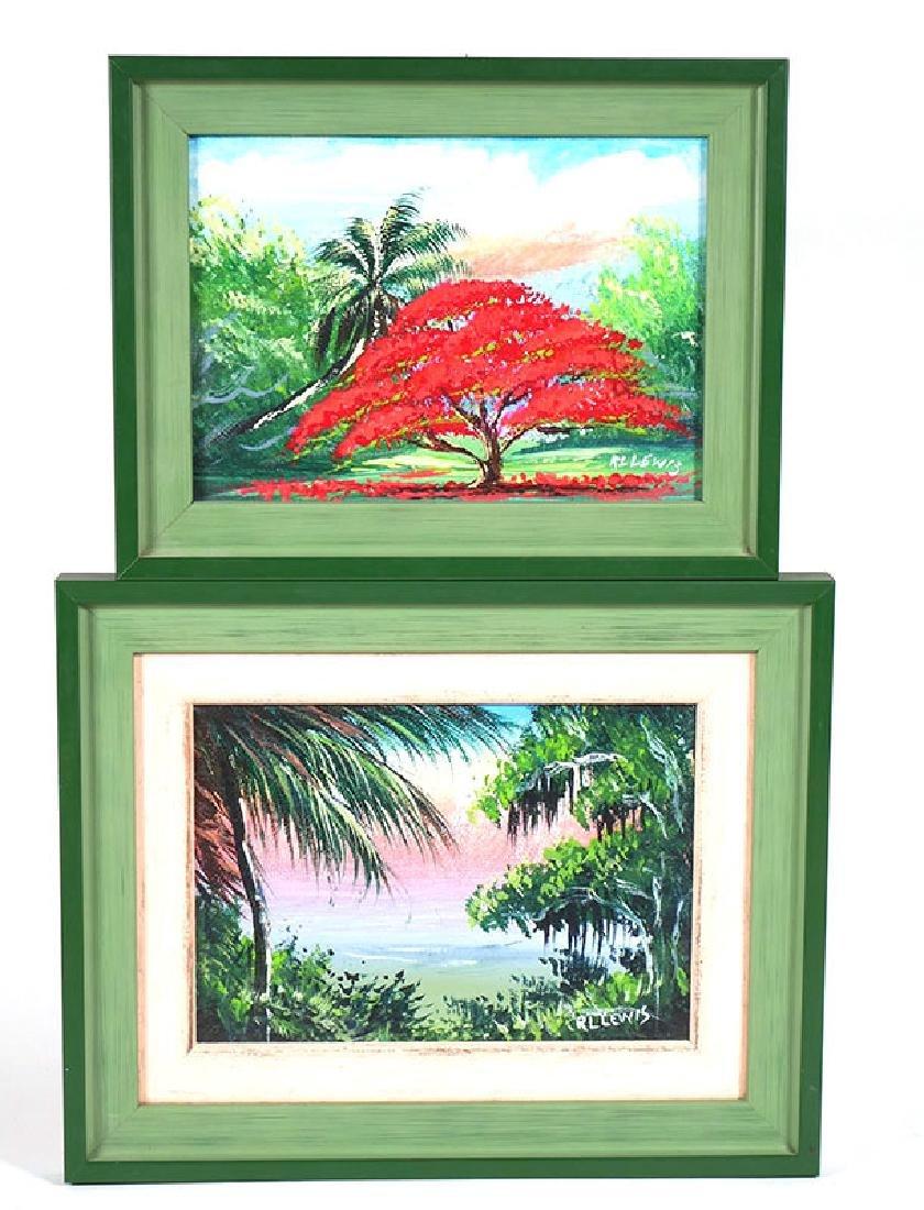 2 Robert L. Lewis Florida Highwaymen Paintings
