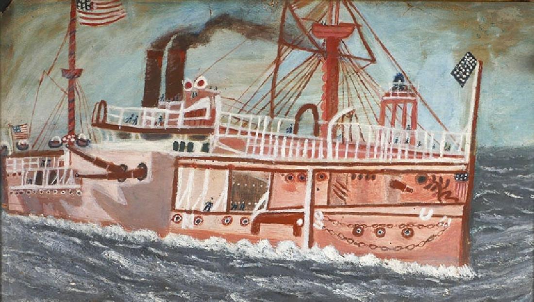 American Span-Am Warship Painting