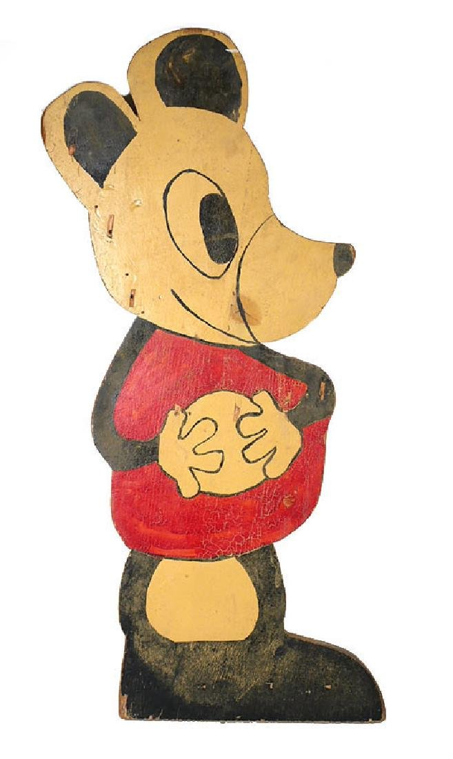 Wooden Carnival Game Sign, Likeness of Mickey