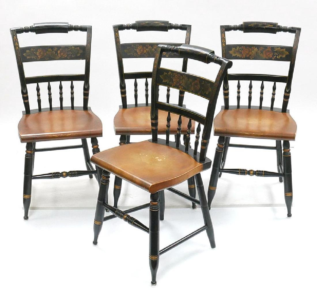 Set of 4 Hitchcock Signed Side Chairs