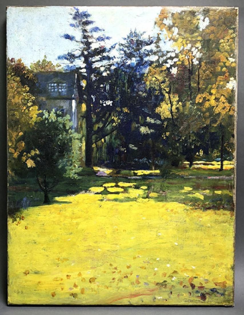 Joseph L. Smith Oil Painting of His Boston Home