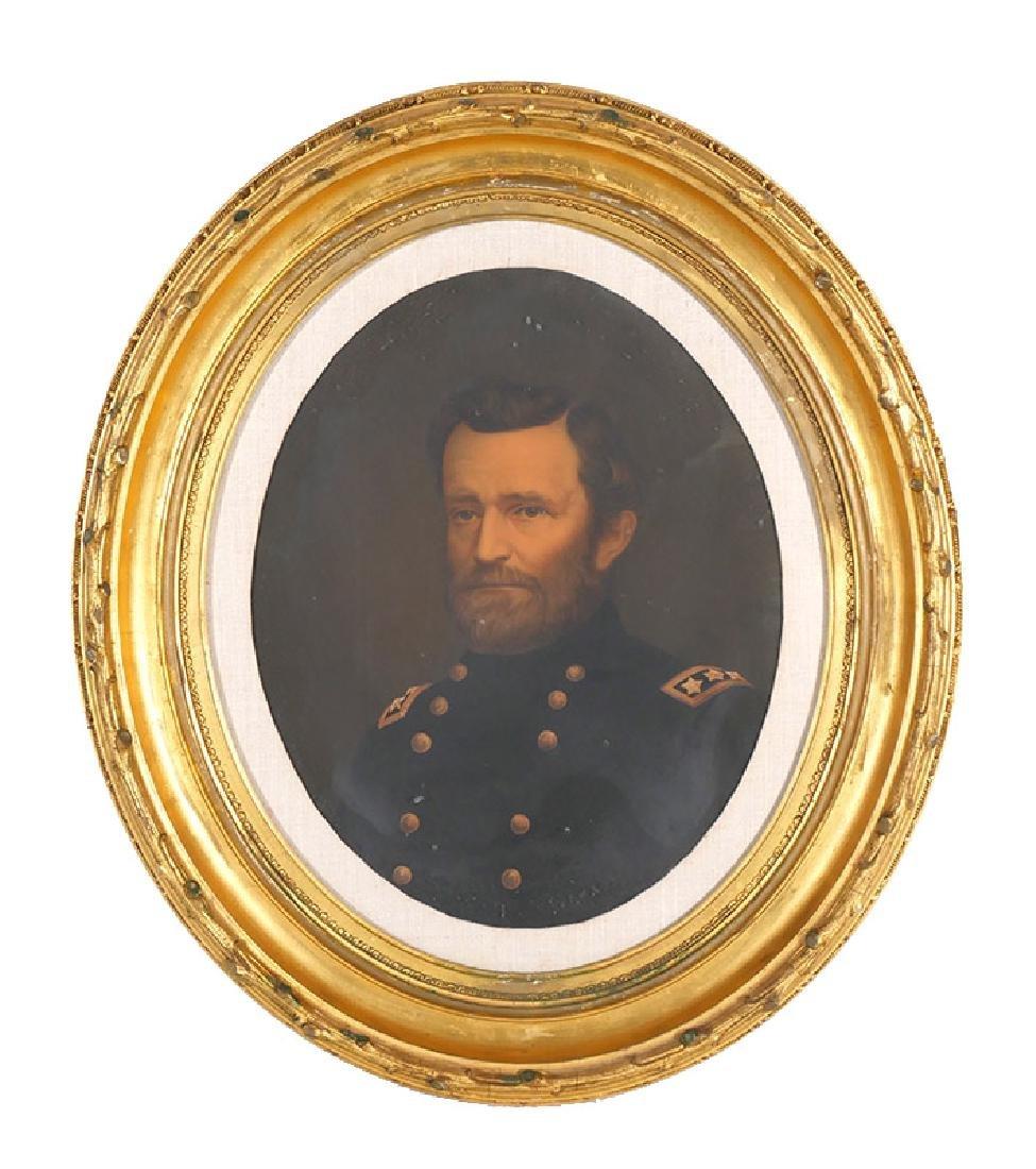 Ulysses S Grant 1864 Oil Chromolithograph Portrait