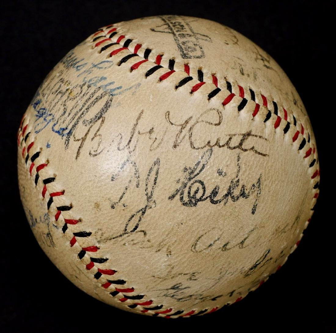 Babe Ruth Lou Gehrig Dimaggio Hornsby Signed Ball