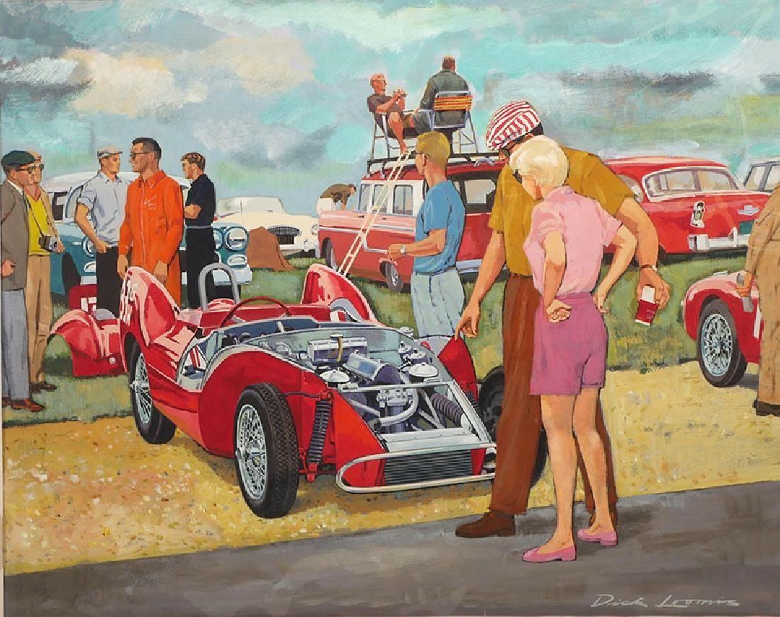 Dick Loomis Illustration Gouache Sebring 1958-60
