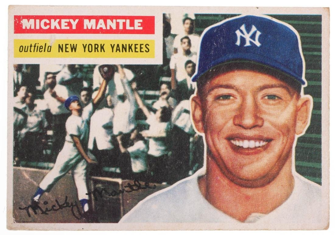 1956 Mickey Mantle #135 Topps Baseball Card