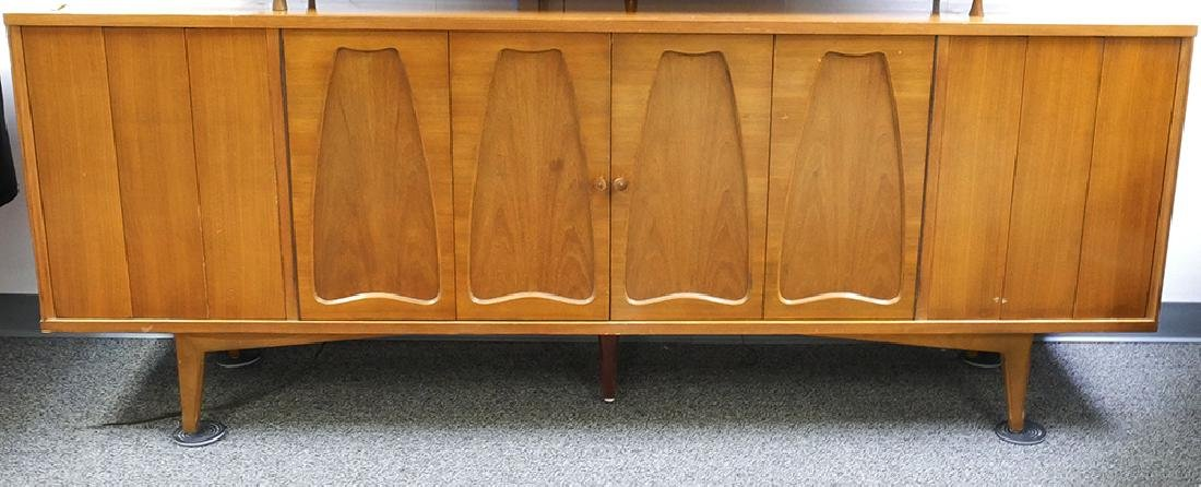 Midcentury Stereo Console Credenza Cabinet