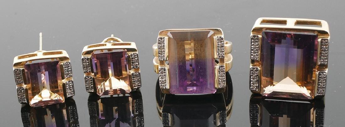 Sonia Bitton Ametrine 14k Ring, Pendant, Earrings