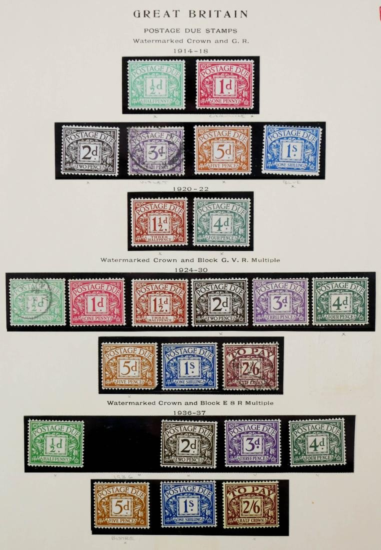 GREAT BRITAIN, 1914-37 Postage Due Stamps