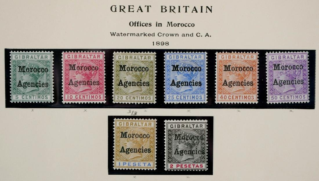 GREAT BRITAIN, Offices in Morocco 1898 - 2