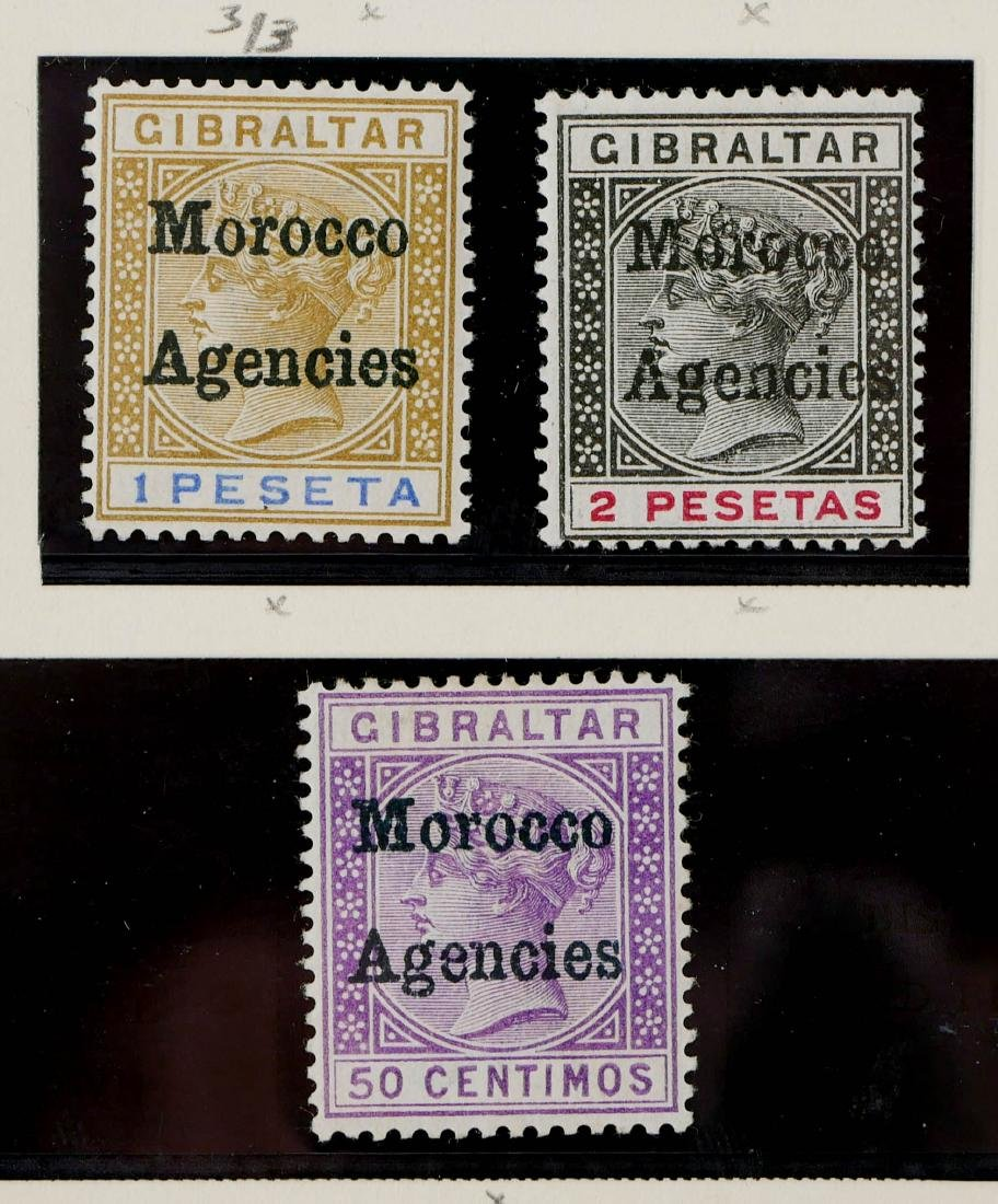 GREAT BRITAIN, Offices in Morocco 1898 - 3