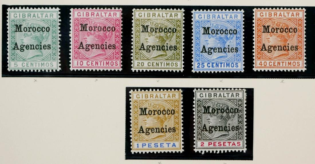 GREAT BRITAIN, Offices in Morocco 1898 - 4