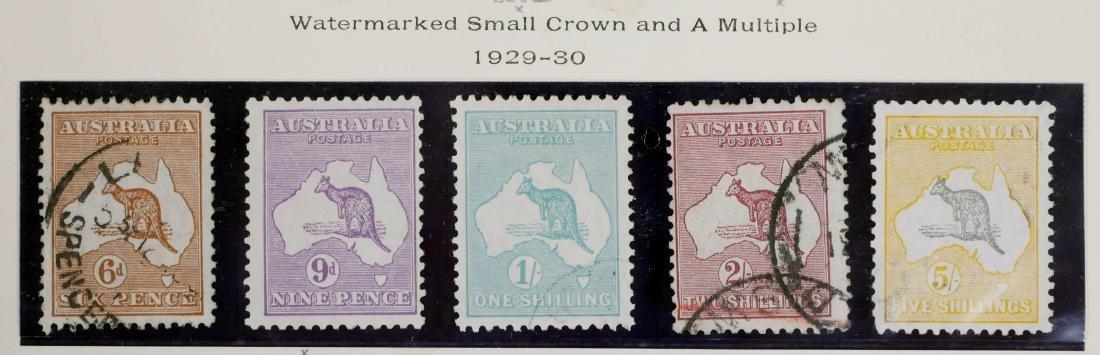 AUSTRALIA, 1929-30, 6p-5sh, #96-100