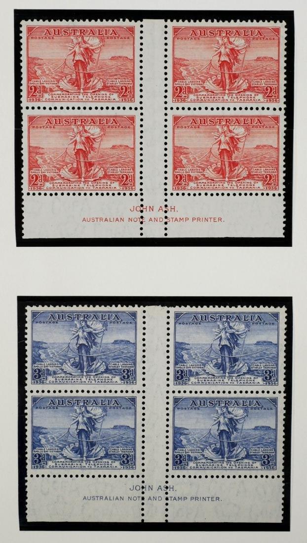 AUSTRALIA, 1936 2p & 3p #157-158 Blocks of Four