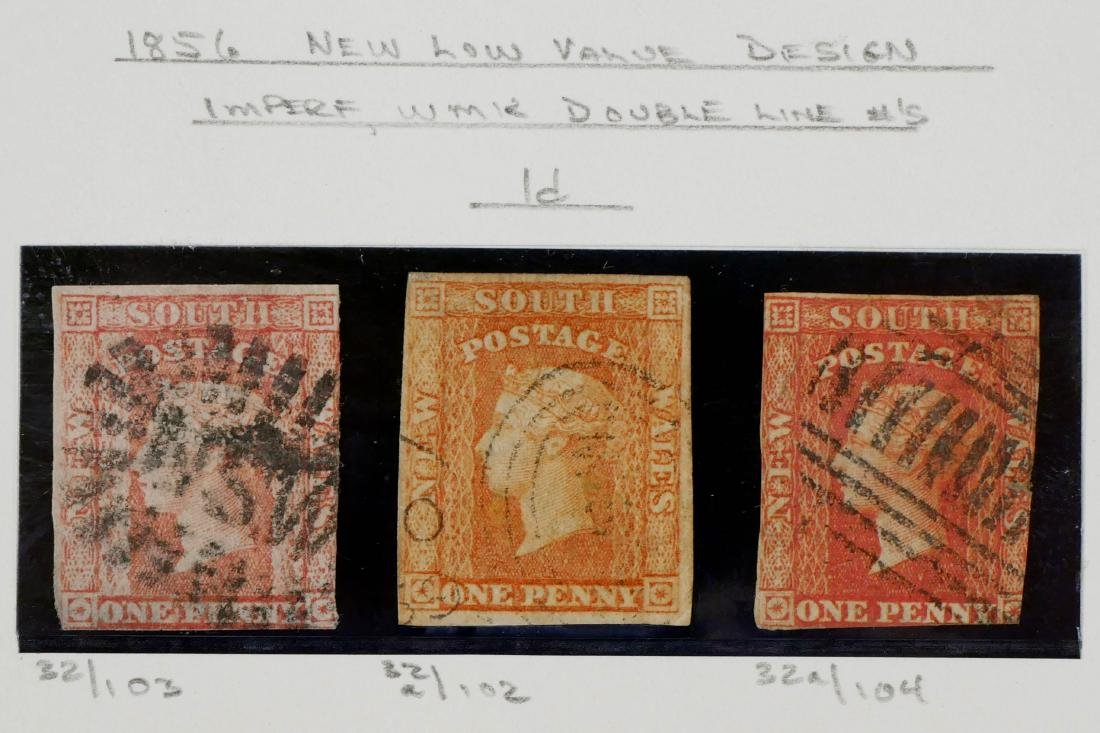 NEW SOUTH WALES, 1856 1p red & orange red #32 32a