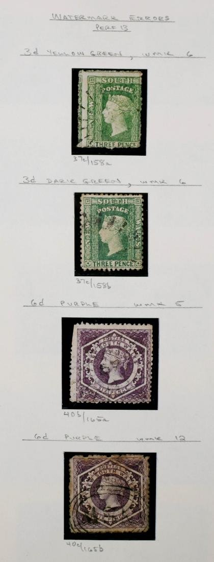 NEW SOUTH WALES, 1860-63 Wmk Varieties 37c 40b 40c
