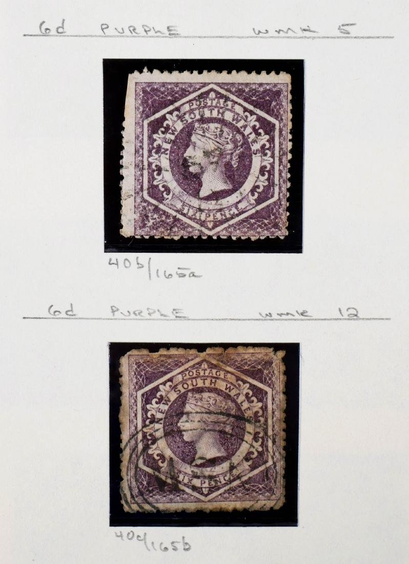 NEW SOUTH WALES, 1860-63 Wmk Varieties 37c 40b 40c - 3