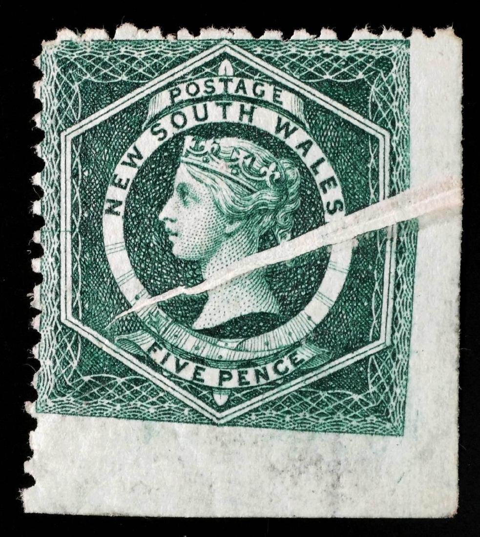 NEW SOUTH WALES, 1882-91 #65c Freak Printing