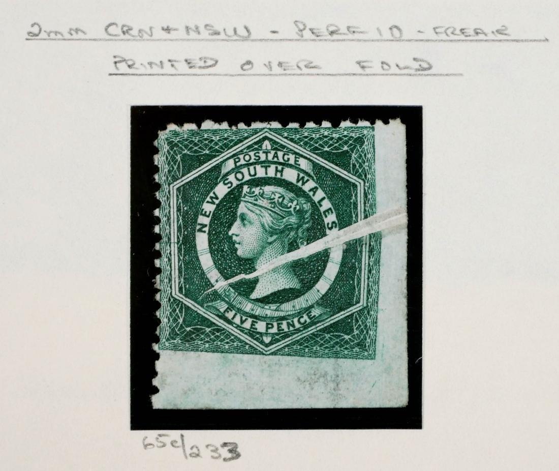 NEW SOUTH WALES, 1882-91 #65c Freak Printing - 3
