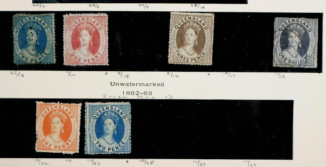 QUEENSLAND, 1860-74 Used & Unused, CV $2,600 - 3