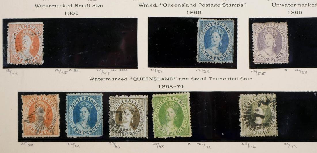 QUEENSLAND, 1860-74 Used & Unused, CV $2,600 - 4