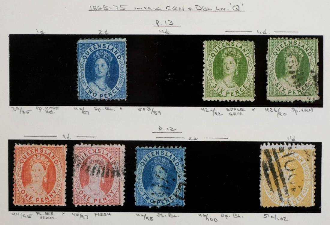 QUEENSLAND, 1868-75, CV $400 - 2