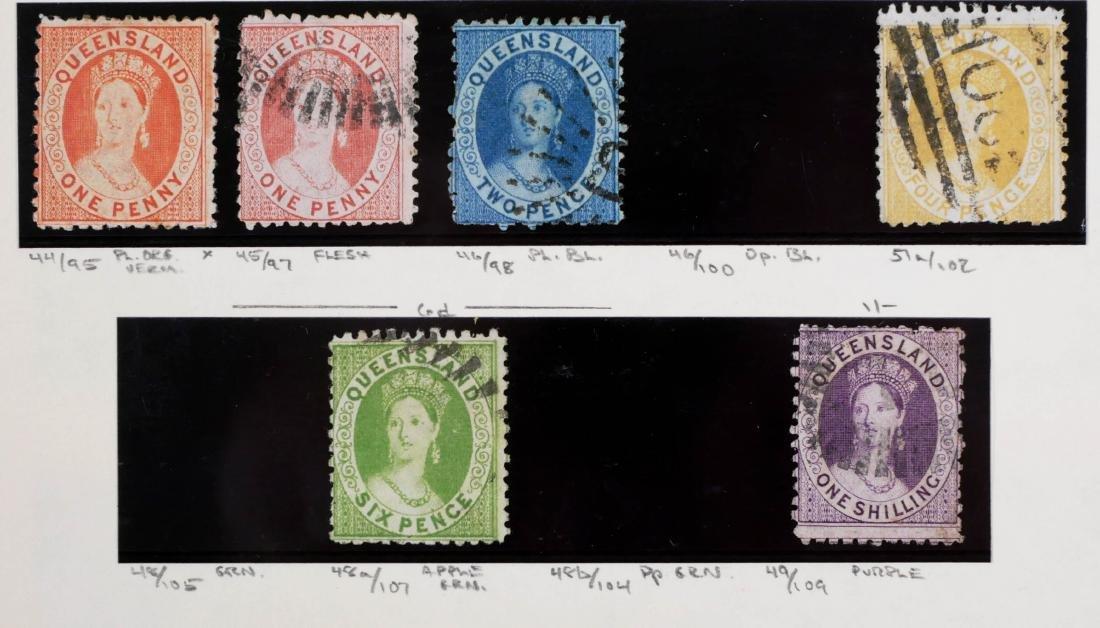 QUEENSLAND, 1868-75, CV $400 - 3
