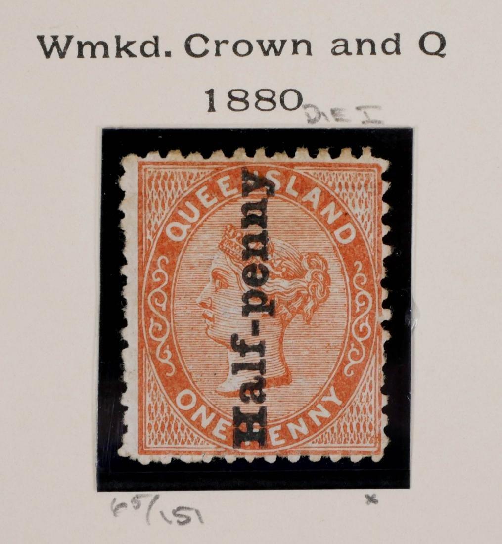 QUEENSLAND, 1880 1/2p on 1p brn org #65 Unused - 3