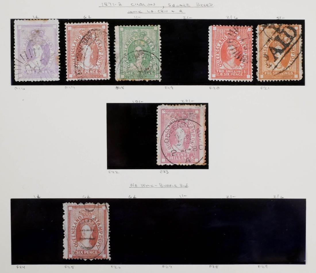 QUEENSLAND, 1871-72 Seven Postal Fiscals