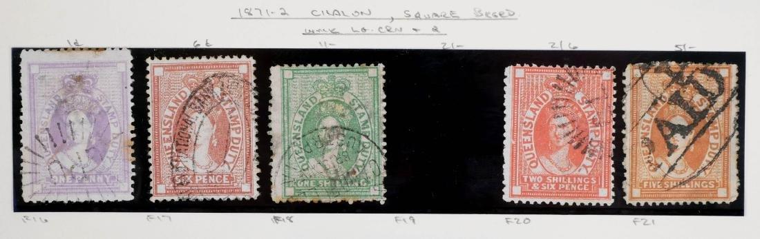 QUEENSLAND, 1871-72 Seven Postal Fiscals - 2