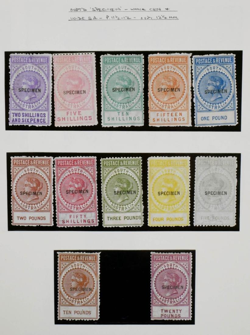SOUTH AUSTRALIA, 1886-96 Specimens to 20 pounds