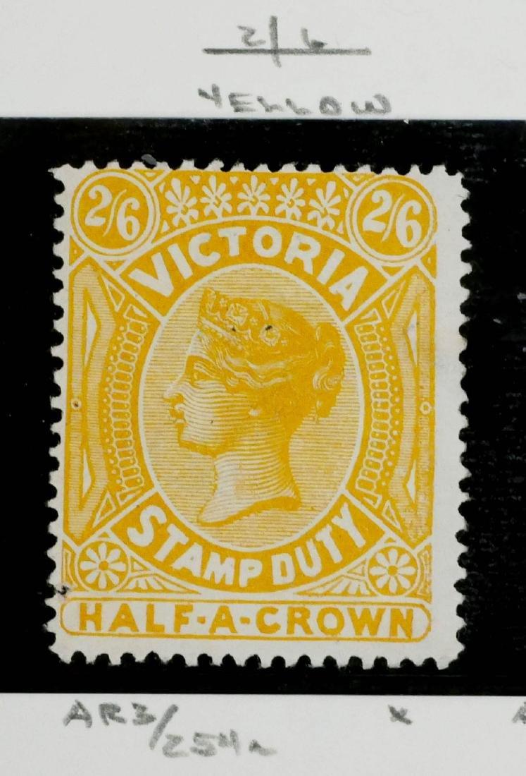 VICTORIA, Postal Fiscal 2sh6p yellow, AR38a