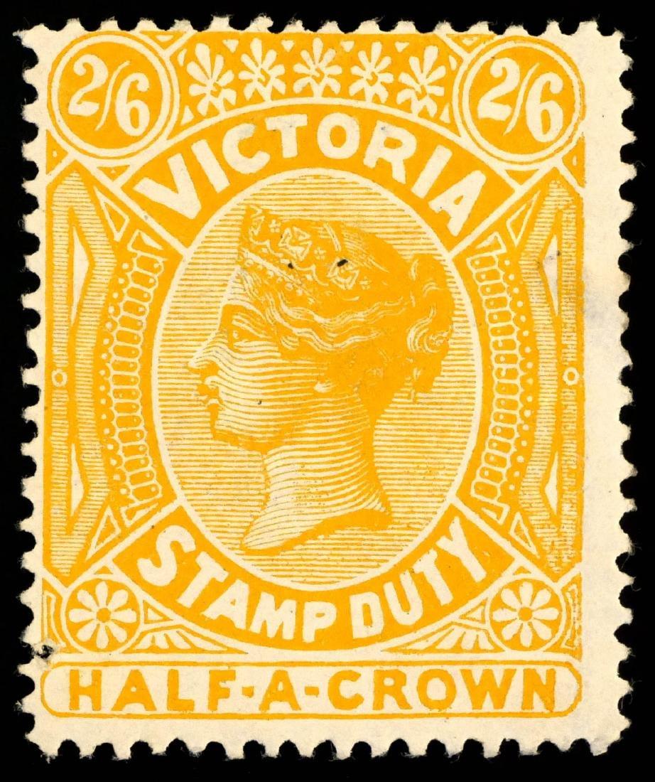 VICTORIA, Postal Fiscal 2sh6p yellow, AR38a - 2