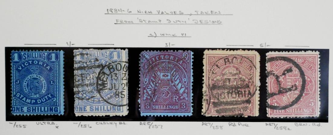 VICTORIA, Postal Fiscals 1sh to 5 sh, 1884-86