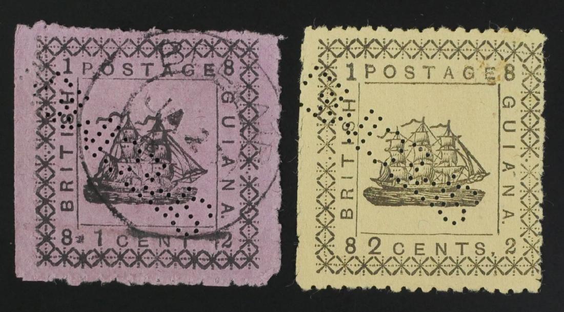 BRITISH GUIANA, 1882 #104 105 - 2