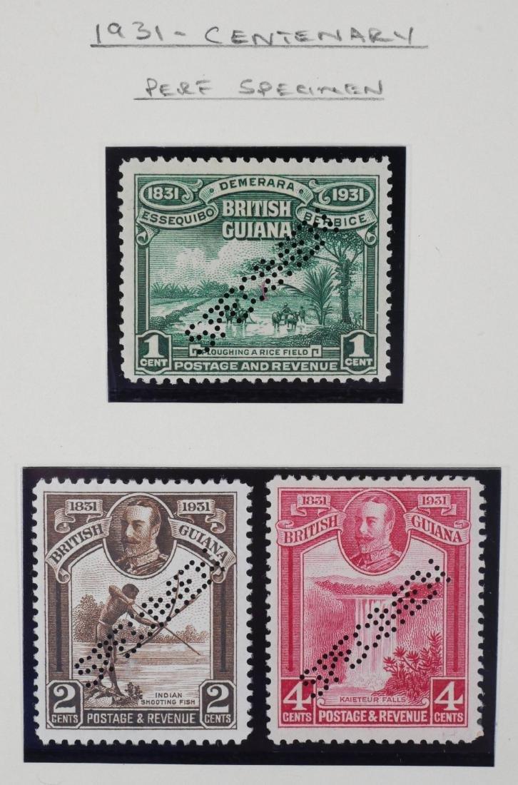 BRITISH GUIANA, 1931 Centenary Perf Specimen Set - 2