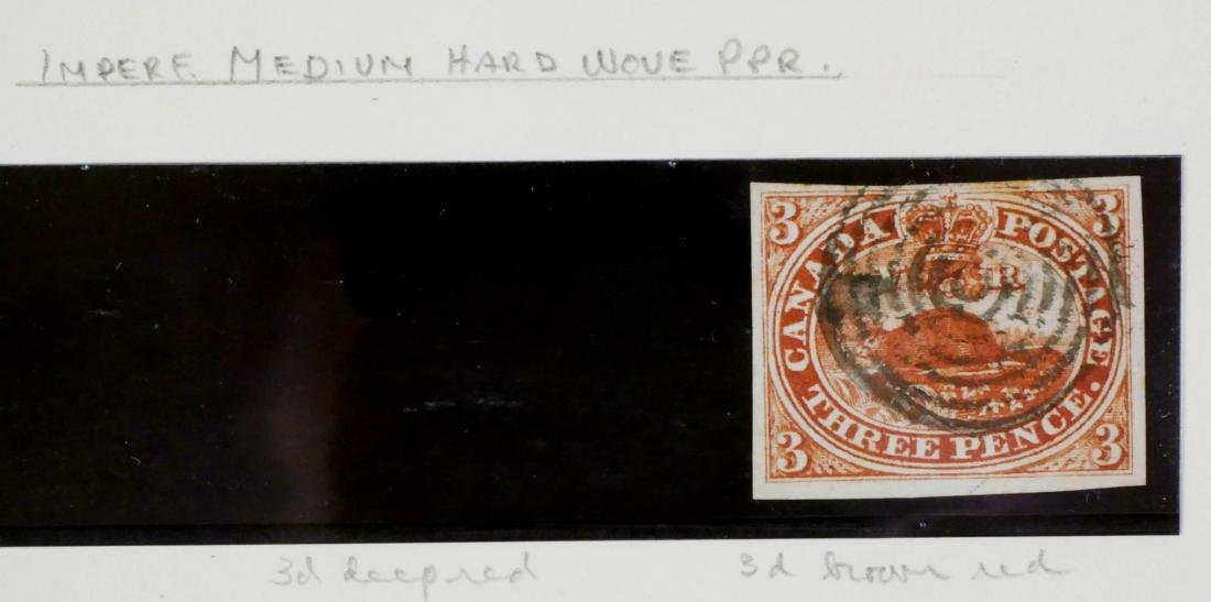 CANADA, 1852-57 3p brown red #4a imperf