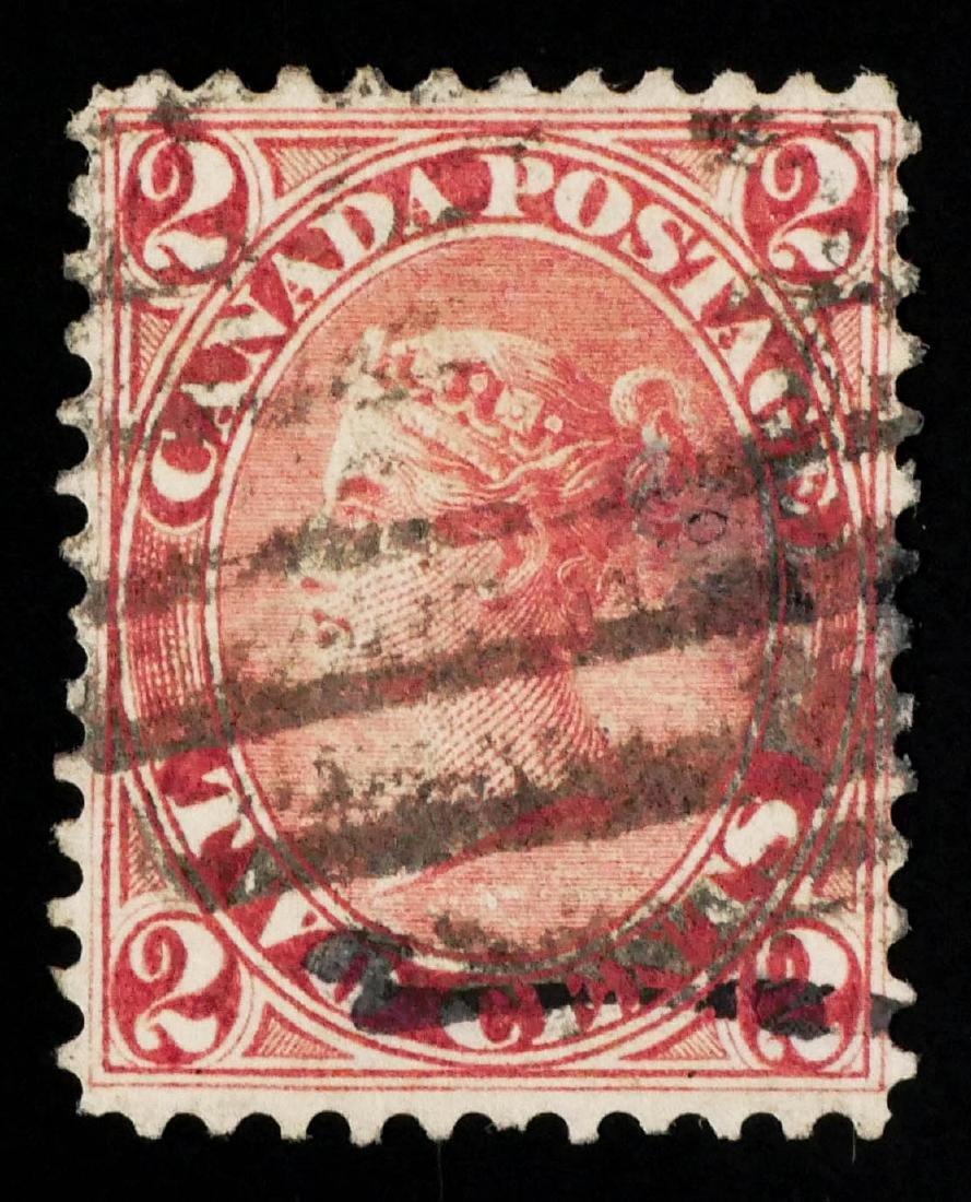 CANADA, 1864 2c rose #20 - 2