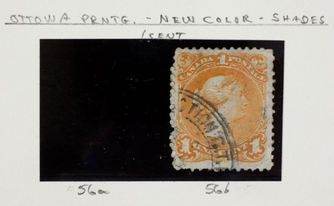 CANADA, 1868 1c Yellow Orange