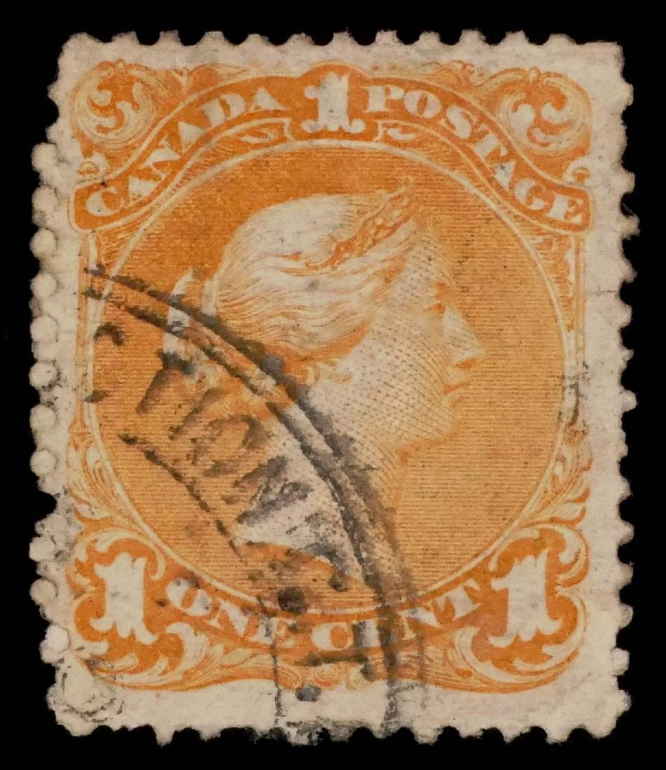 CANADA, 1868 1c Yellow Orange - 2
