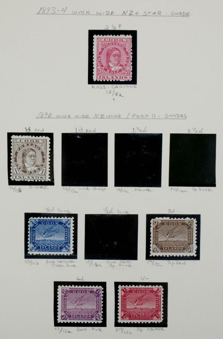 COOK ISLANDS, 1893-98, 6 examples