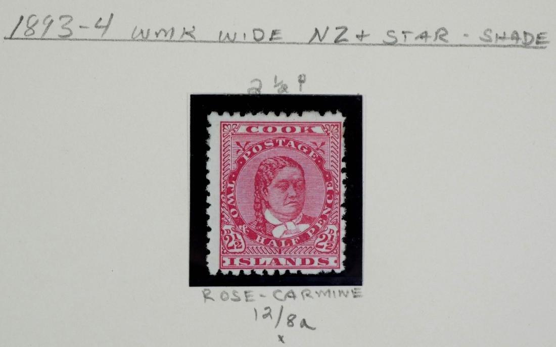 COOK ISLANDS, 1893-98, 6 examples - 2