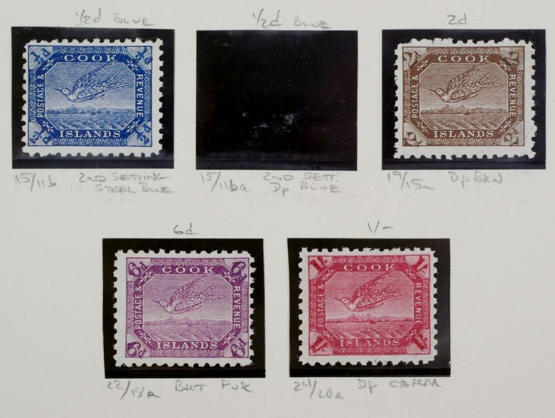 COOK ISLANDS, 1893-98, 6 examples - 4