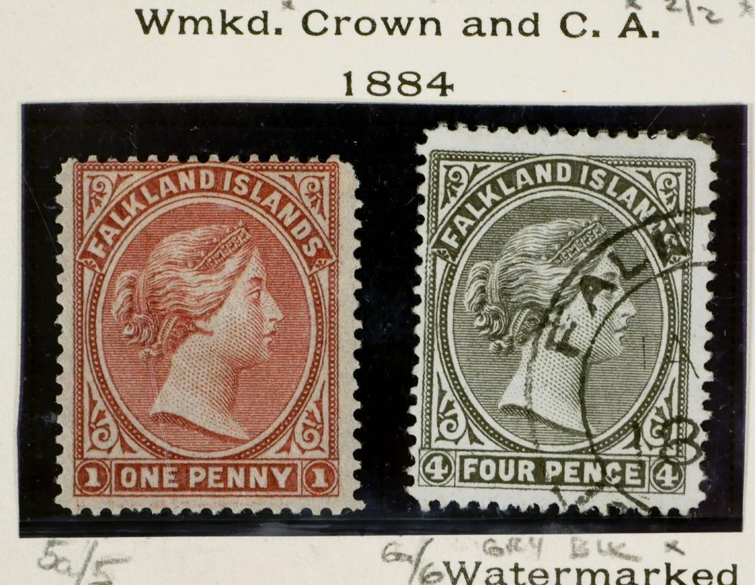 FALKLAND ISLANDS, 1884 #5a 6a