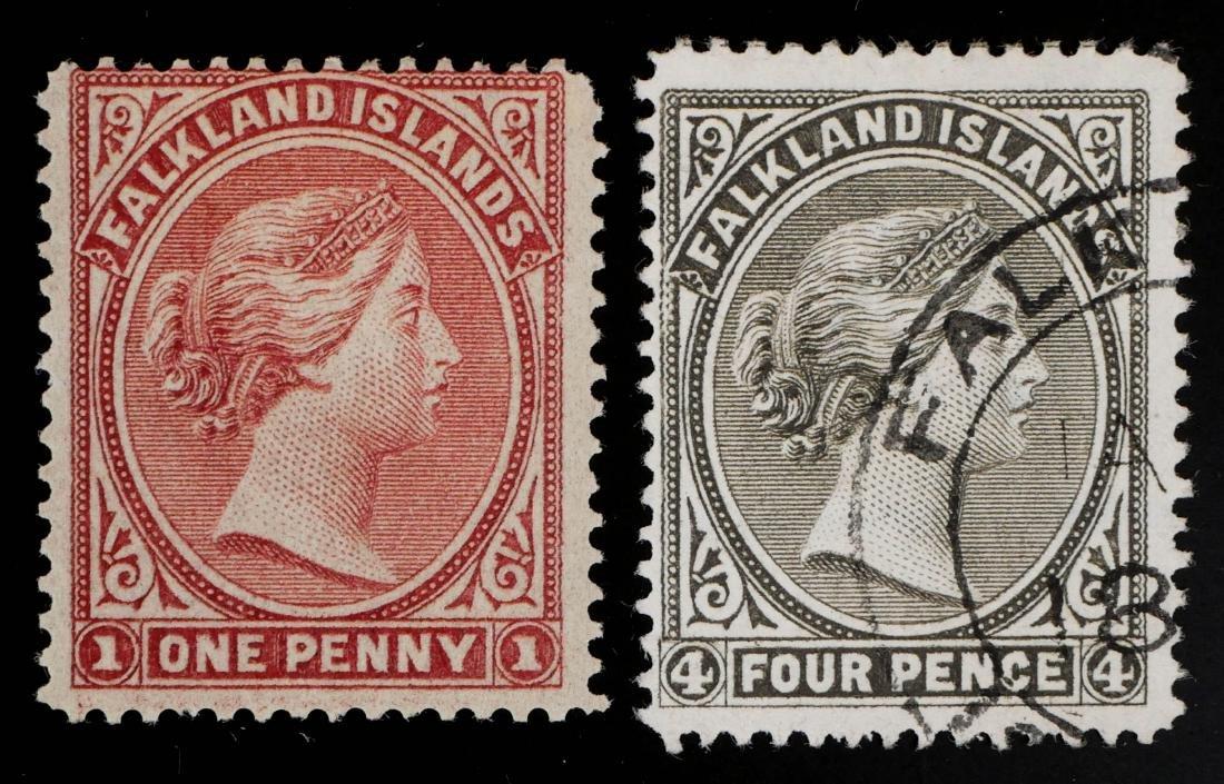 FALKLAND ISLANDS, 1884 #5a 6a - 2