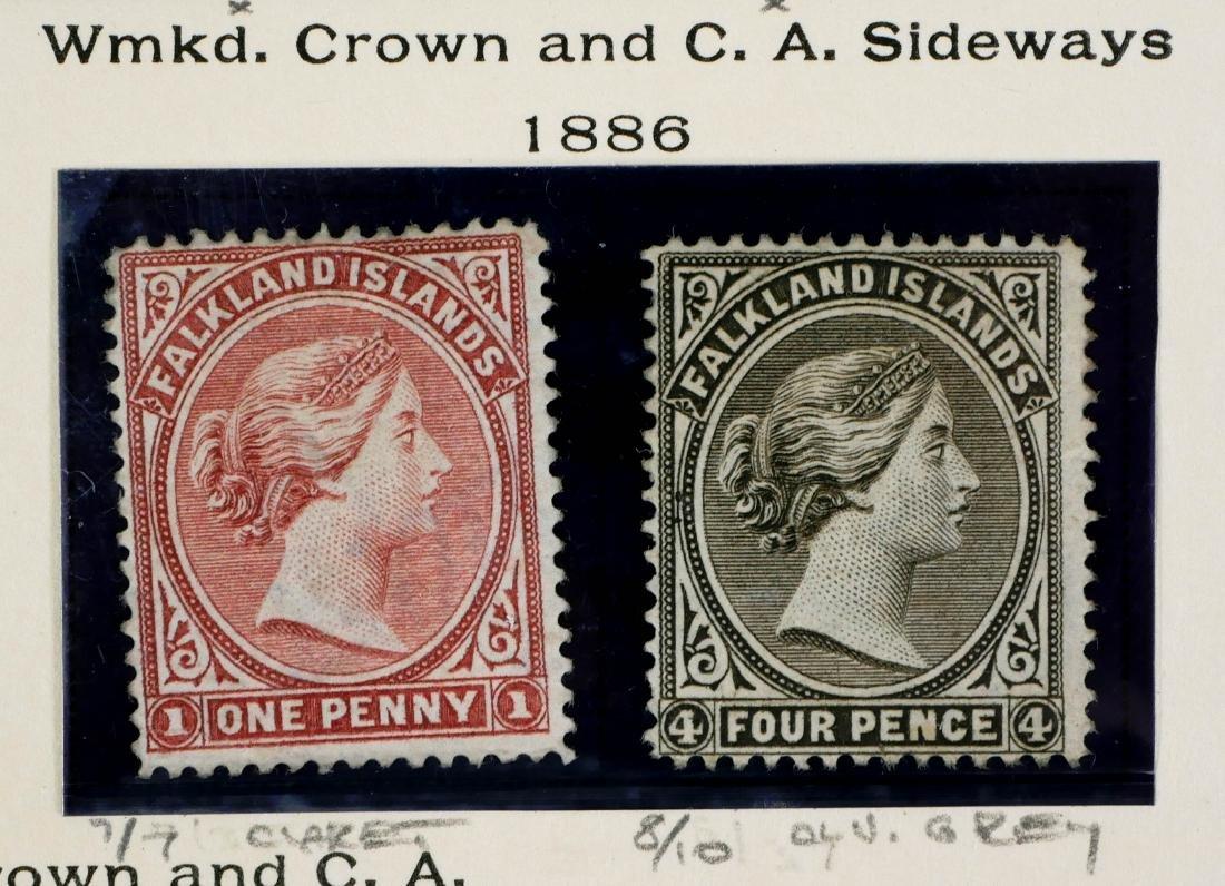 FALKLAND ISLANDS, 1886, #7 8 unused